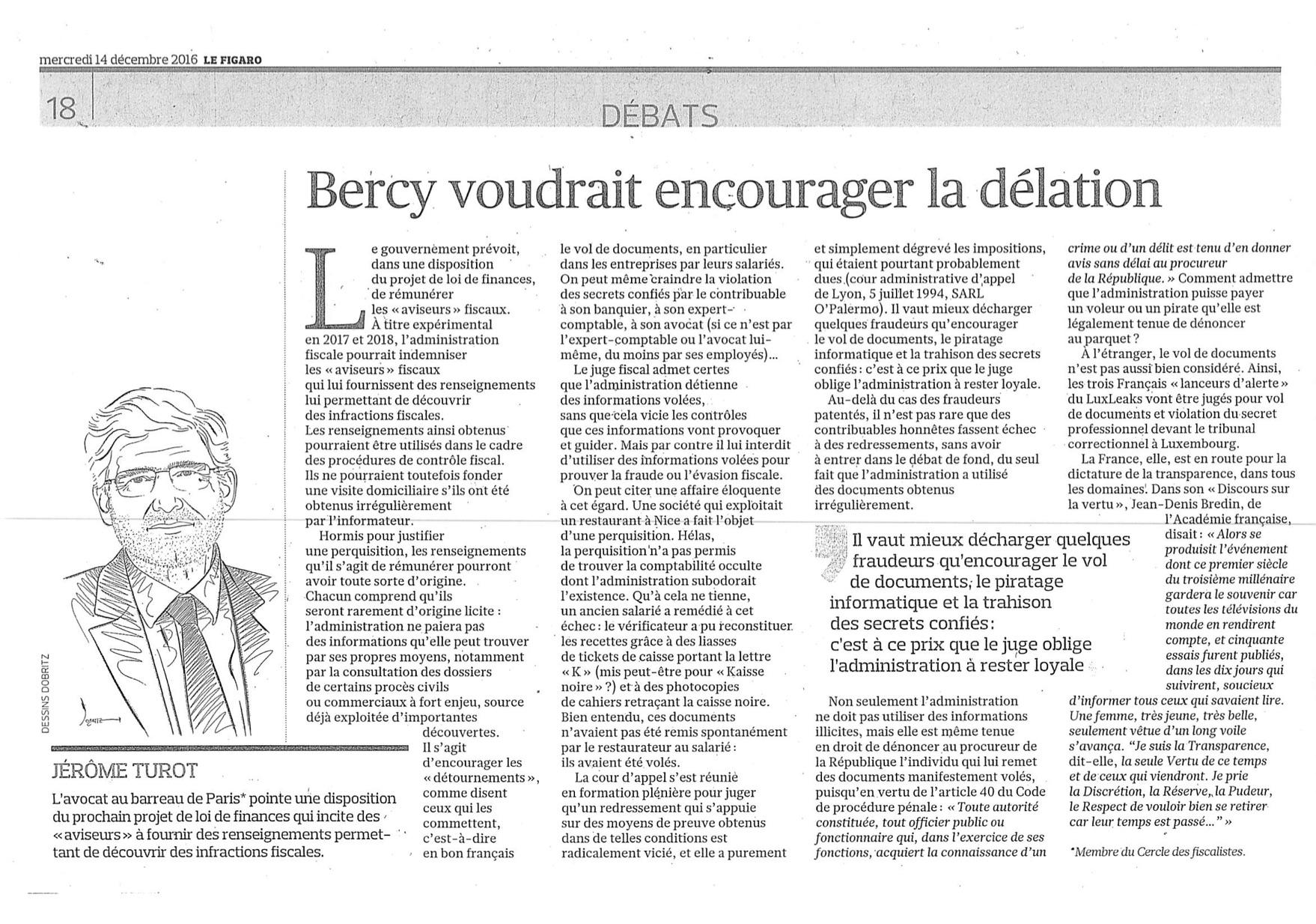Article-Figaro-14-décembre-2016-Bercy-voudrat-encourager-la-délation-par-Jérôme-Turo